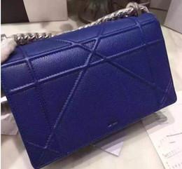 Bolso de las mujeres famosas del diseñador de la marca de fábrica bolsos de hombro de cuero verdaderos del caviar del cuero