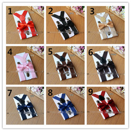 online shopping Hot Sell New Arrival Kids Suspenders Bow Tie Set Colors for T Baby Braces Elastic Y back Boys Girls Suspenders Accessories Q0791
