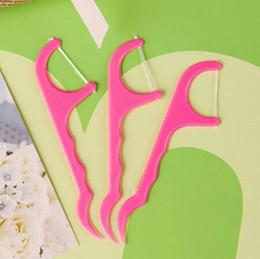 Toothpicks Stick Flosser Espada Oral Cuidados Triple Clean Dental Floss Picks Dentes Encerados