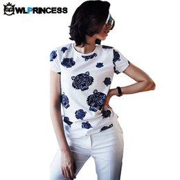 Wholesale Owlprincess nouvelle conception de mode O cou Golden Tigers Impression T shirt d été à manches courtes femmes Casual Punk Rock Tee Tops