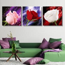 Оптовая Холст Живопись Искусство Unframed Elegent Розы Большой стены искусства Картина лучший подарок Современные стены искусства декора дома JC0367
