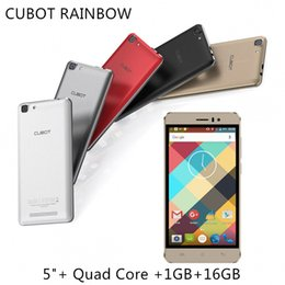 Discount chinese phone screens CUBOT RAINBOW 5.0 Inch Smartphone 1GB RAM 16GB ROM Android 6.0 MT6580 Quad Core 13.0mp 2200mAh Cell Phones FREE SHIPPING