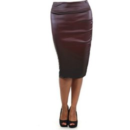 Green Leather Pencil Skirt Online | Green Leather Pencil Skirt for ...