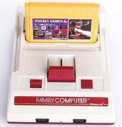 RS-35 Console de jeux vidéo CoolBady FC Rouge Blanc Classique Famille Machine de jeu Consoles de jeux TV Carte jaune Plug-in Card Jeux Juego