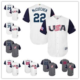 2ca95638a98 Grey Mens USA Baseball jerseys 22 Andrew McCutchen 24 Andrew Miller 35 Eric  Already have the APP 2017 Lady And Youth 2017 Usa World Baseball Classic ...