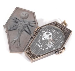 discount mens pocket watches 2017 mens pocket watches for 2016 new arrival top s the nightmare before christmas jack skull skeleton quartz pocket watch mens lady halloween gifts