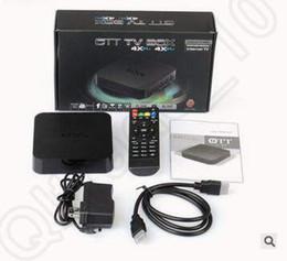 MXQ TV Box Amlogic S805 Quad-Core Cortex-A5 Mali-450 Quad-Core H.264 H.265 KODI 16.1 Pré-installé VS MX Pro Android CCA5344 10pcs