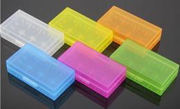 Portable Carrying Box 18650 Caja de la batería Caja de acrílico de almacenamiento Caja de seguridad de plástico colorido para 18650 batería y CR123 batería (6 colores)