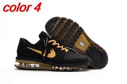 Discount shoes run air max 2017 Max New Style KPU Cushion Running Shoes For Men maxes sneaker Air Cushion Surface Breathable Max Shoes , size us 7- 13