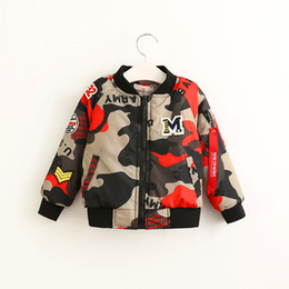 Wholesale Everweekend Boys Camouflage Letter Jackets Outwears Western Fashion Autumn Winter Blouse Handsome Children Clothing