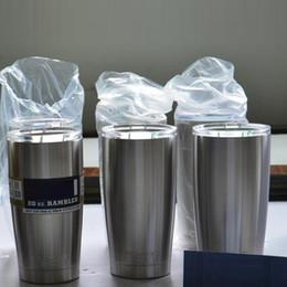 Таможня Logo! охладители 304 тумблер из нержавеющей стали Кубок изоляции 20 OZ 30oz чашки большой емкости Кружка