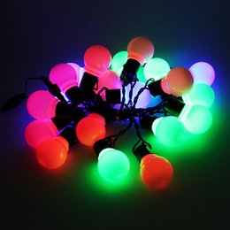 Wholesale Novelty 5CM Big Ball LED String Light 10M 38 LED Christmas Light  For Outdoor Patio Lawn Landscape Garden Home Wedding Holiday