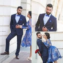 Discount Blue Checked Suit For Men   2017 Blue Checked Suit For