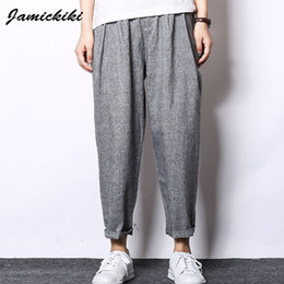 Discount Baggy Linen Pants | 2017 Linen Pants Baggy Men on Sale at ...