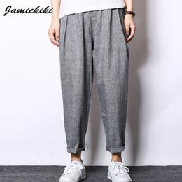 Discount Baggy Linen Pants | 2017 Linen Pants Baggy Men on Sale at ...