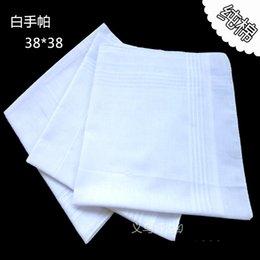 Venta al por mayor 60 PC / paño 100% del cuadrado del pañuelo del satén de la tabla del algodón de la porción los 38cm más blancos, envío libre