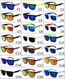 El diseñador de la marca 2017 Spied las gafas de sol del timón del bloque de Ken Gafas de sol de los deportes de la manera Oculos De Sol Gafas de Sol Eyeswearr 21 vidrios unisex de los colores