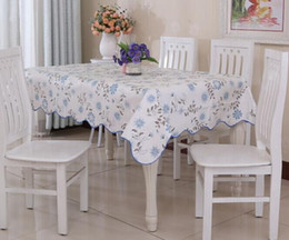 online shopping hot waterproof oilproof wipe clean pvc vinyl tablecloth dining kitchen table cover protector oilcloth - Kitchen Table Covers Vinyl