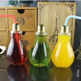 Verre à boire Ampoule Boire Boire Thé Jus de Fruit Boire Bouteille Tasse Fleur Verre Vase Décoration Décoration