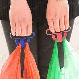 Compras Mercadorias Ganchos de transporte Ganchos de compras de plástico 9 * 5 centímetros Capacidade de Peso 15kg Conveniente Helpers