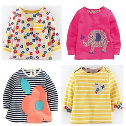 2017 wholesale shirts for summer wholesale kids western shirts cute t-shirt for girls t shirt long sleeve designer little baby infant tops o-neck tee mixed size