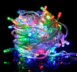 Wholesale-10M 20M 30M 50M 100M LED Fairy String Light AC110V 220V Holiday  Christmas Wedding Garden Party Decoration light EU
