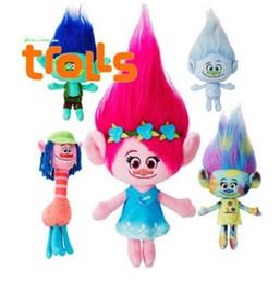 online shopping Movie Trolls Doll Plush Toy cm Poppy Branch Dream Works Stuffed Cartoon Dolls The Good Luck Trolls TA108