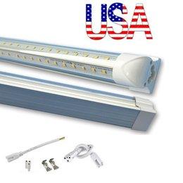 En forme de V 4ft 5ft 6ft 8ft refroidisseur porte conduit tubes T8 intégré Led tubes double côtés SMD2835 conduit lumières fluorescentes 85-265V Stock En US