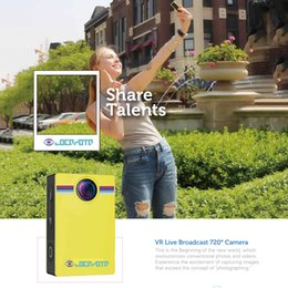 VR Прямая трансляция 720 градусов Камера Панорамный вид Wifi двойной объектив HD видео камера SD карта Макс 32GB 3000x1500 для IOS Android VS 360 камеры