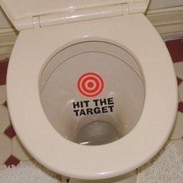 Qt 0088 The New Hit The Target Toilet Stickers Wallpapers Art Mural Waterproof For Toilet Home Decor Backdrop Removable Target Sticker On Sale