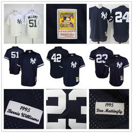 cba83fff8 ... baseball jerseys cooperstown new york yankees 23 don mattingly 51 bernie  williams 42