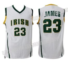 online shopping High School LeBron James Jersey Men s Irish Throwback Jersey Stitched Jersey
