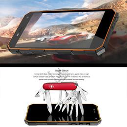 Nomu S10 à l'épreuve des chocs Android 6.0 Smartpphone déverrouillé 5,0 pouces Quad Core 2 Go de mémoire RAM 16GB ROM 1280x720 IP68 étanche téléphone mobile 5000mAh