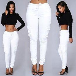 Wholesale High recomienda color popular estilo americano sexy pantalones vaqueros apretados mujeres de pantalón de pantalones de mano de la pierna de bolsillo capris más tamaño