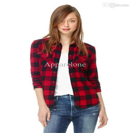 Red Plaid Flannel Shirt Women Online | Red Plaid Flannel Shirt ...