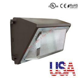 Stock В США + UL DLC одобряет уличный свет настенного светильника 100W 120W промышленный настенный светодиодный светильник AC 110-265V Гарантия 5 лет
