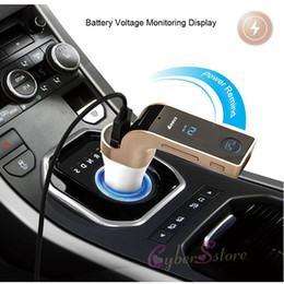 G7 Bluetooth Car Kit Manos Libres Transmisor FM Radio MP3 Player USB Cargador AUX TF tarjetas ranuras