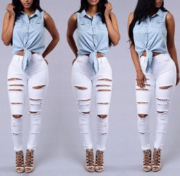 Discount White High Waisted Skinny Jeans | 2017 White High Waisted ...