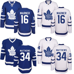 Jersey de los arce de Toronto Jersey # 16 Mitchell Marner # 34 Auston Matthews # 29 Guillermo Nylander 100% Cosido Logos del bordado Jerseys del hockey