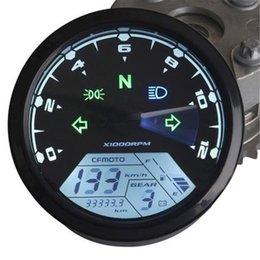 Waterproof 12000RMP LCD Digital Velocímetro Odômetro Motocicleta Motocicleta Partes Instrumentos 1-4 Cilindros 8-18V Preto com Sensor AUP_302