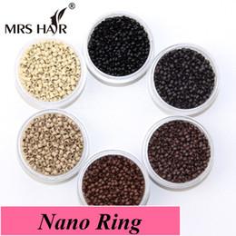 Discount nano micro loop hair extensions Wholesale-Nano Rings Extensions Beads Small Loop Micro Links Tubes 7 Colors Optional For Nano Rings Hair Extensions Micro Beads Hair