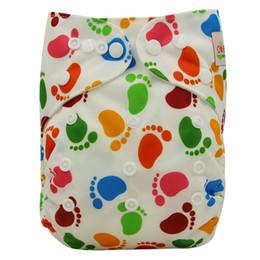 Wholesale Ohbabyka Trendy Imprimer Couche de poche réutilisable imperméable PUL Baby Tissu couvre couches Nappy Couverture forte absorbante bébé