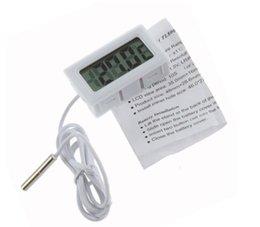 310pcs цифровой ЖК-экран Термометр Холодильник Холодильник Морозильник аквариумных рыб БАК Температура -50 ~ 110C GT Черный белый цвет w1128