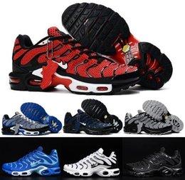 2017 shoes run air max Hot Max TN Men's Running Shoes Nanotechnology KPU Material High Quality Outdoor Discount Air Black Sport TN KPU Sneakers Eur 40-47 cheap shoes run air max