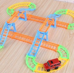 magic tracks kids amazing race track children railcar electric children toy car diy assembled free shipping