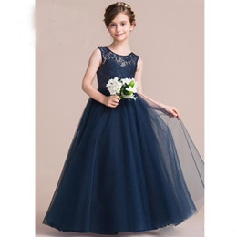 Navy Blue Wedding Dresses For Kids Online | Navy Blue Wedding ...