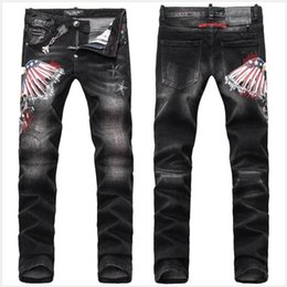 Colored Ripped Jeans Man Online | Colored Ripped Jeans Man for Sale