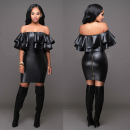 Tight Black Leather Pencil Skirt Online | Tight Black Leather ...