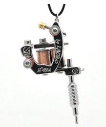 Wholesale LASPERAL PC Gunmetal mini tatouage machine collier de style punk collier pendentif pour les femmes hommes hip hop rock bijoux cadeaux