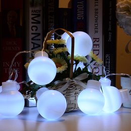 10 Bulb String Christmas Lights Online | 10 Bulb String Christmas ...:Wholesale- White 10 Leds Fairy String Light Plastic Bulb Shapes Romantic  LED Lamp for Garden Outdoor Christmas Wedding Decoration,Lighting